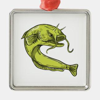 Ornamento De Metal Desenho de salto do peixe-gato do diabo