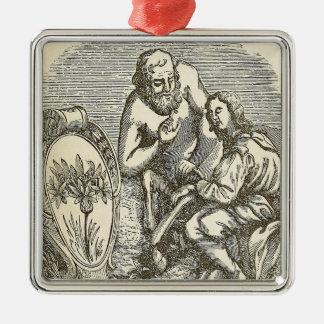 Ornamento De Metal Desenho do Hypnotism com espelho