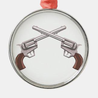 Ornamento De Metal Desenho do revólver da pistola isolado em