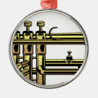 Ornamento De Metal Desenhos animados da trombeta