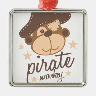 Ornamento De Metal Desenhos animados do pirata legal