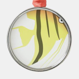 Ornamento De Metal Desenhos animados dos peixes do anjo