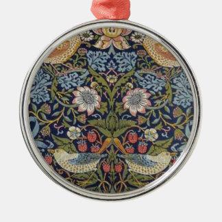 Ornamento De Metal Design 1883 do ladrão da morango de William Morris