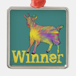Ornamento De Metal Design animal da arte da cabra artística engraçada