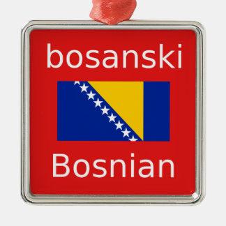 Ornamento De Metal Design bosniano da língua
