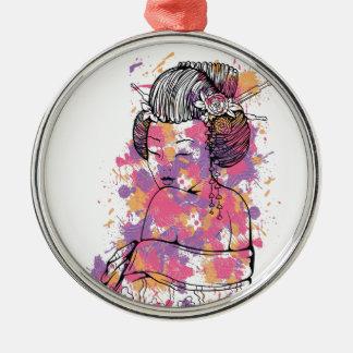 Ornamento De Metal design chinês do vintage da menina