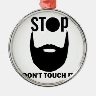 Ornamento De Metal design da barba