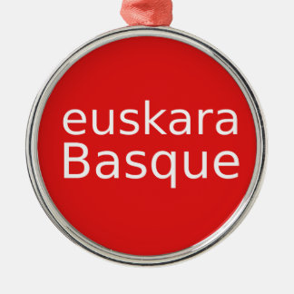 Ornamento De Metal Design da língua Basque