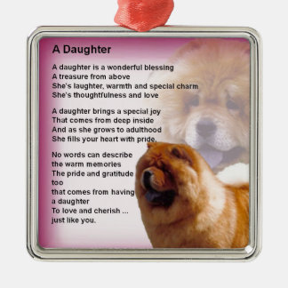 Ornamento De Metal Design do cão da comida de comida - poema da filha