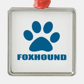 ORNAMENTO DE METAL DESIGN DO CÃO DO FOXHOUND