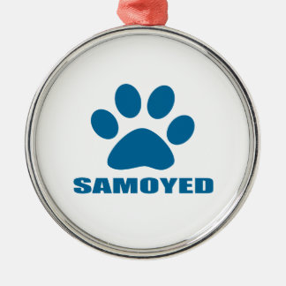 ORNAMENTO DE METAL DESIGN DO CÃO DO SAMOYED