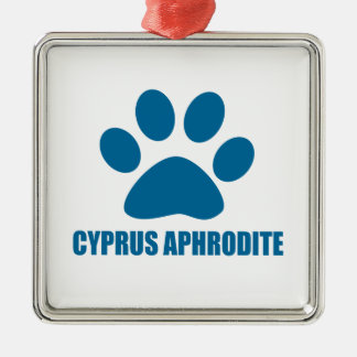 ORNAMENTO DE METAL DESIGN DO CAT DO AFRODITE DE CHIPRE