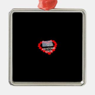 Ornamento De Metal Design do coração da vela para o estado de