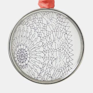 Ornamento De Metal Design do Crochet