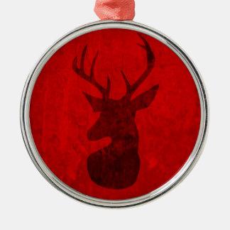 Ornamento De Metal Design do veado vermelho