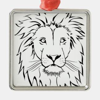 Ornamento De Metal design do vetor do desenho do leão
