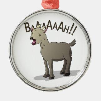 Ornamento De Metal Design gritando do macarronete do Doodle da cabra