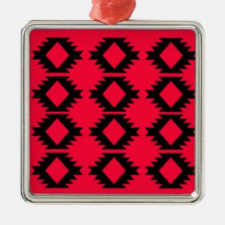 Ornamento De Metal Design maia vermelho do design de Ethno