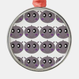 Ornamento De Metal Design pequeno bonito dos hipopótamos