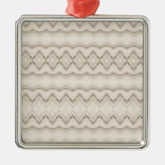 Ornamento De Metal Design tribal do teste padrão de ziguezague da
