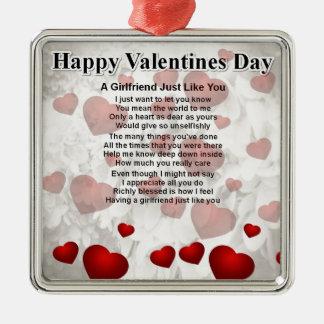 Ornamento De Metal Design vermelho dos corações do namorada dos