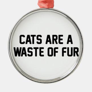 Ornamento De Metal Desperdício dos gatos da pele