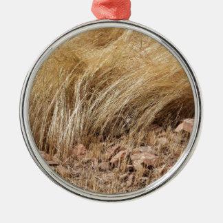 Ornamento De Metal Detalhe de um campo do teff durante a colheita