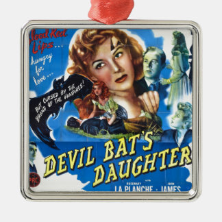 Ornamento De Metal Devil Bat's Daughter, vintage horror movie poster