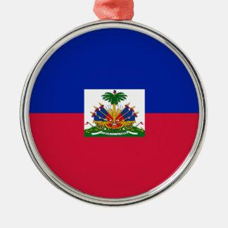 Ornamento De Metal d'Haïti de Drapeau - bandeira de Haiti
