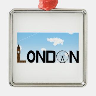 Ornamento De Metal Dia da skyline de Londres
