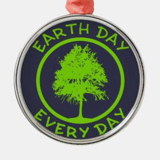 Ornamento De Metal Dia da Terra cada dia