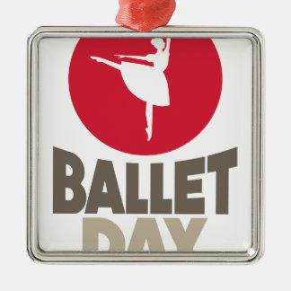 Ornamento De Metal Dia do balé - dia da apreciação