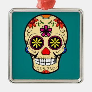 Ornamento De Metal Dia do crânio do açúcar da cerceta inoperante