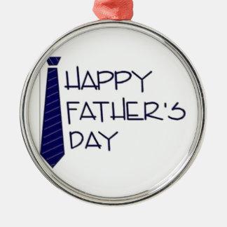 Ornamento De Metal Dia dos pais feliz