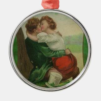 Ornamento De Metal Dia romance de Ireland St Patrick irlandês do