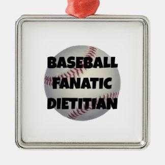 Ornamento De Metal Dietista do fanático do basebol