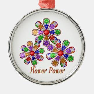 Ornamento De Metal Divertimento flower power