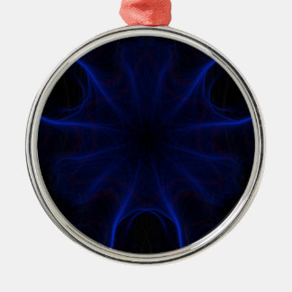 Ornamento De Metal DK. Laser azul