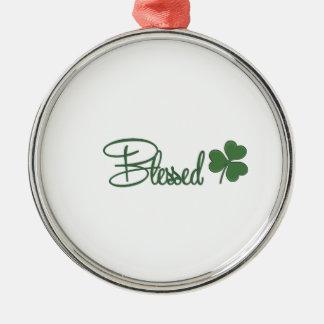 Ornamento De Metal ☘ do design do dia de St Patrick abençoado