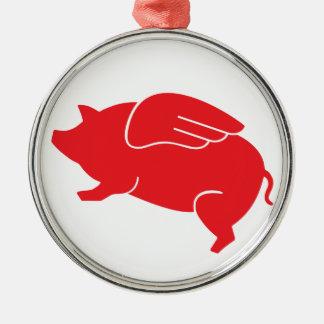 Ornamento De Metal 🐷 do porco do vôo