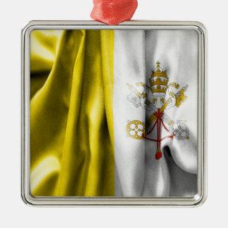 Ornamento de metal do quadrado da bandeira da