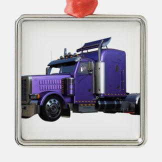 Ornamento De Metal Do roxo caminhão metálico do reboque de tractor