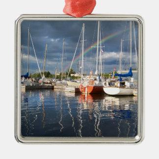 Ornamento De Metal Doca do barco na fotografia do porto