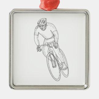 Ornamento De Metal Doodle de competência da bicicleta da estrada