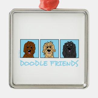 Ornamento De Metal Doodle Friends