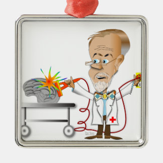 Ornamento De Metal Dr. Braino