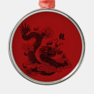 Ornamento De Metal Dragão chinês
