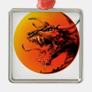 Ornamento De Metal Dragão mau