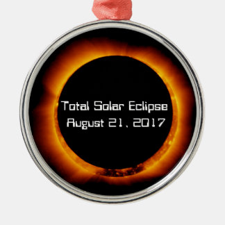 Ornamento De Metal Eclipse 2017 solar total