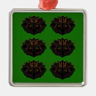 Ornamento De Metal Eco do preto do verde dos elementos do design